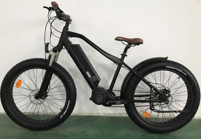 26er Aluminum Electric Fat Bike , Mid - Drive Black 1000w Electric Bike