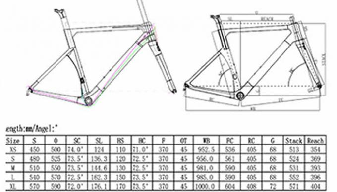 700c Road Racing Aerodynamic Bike Frame Internal Cable Routing Superlight 950g