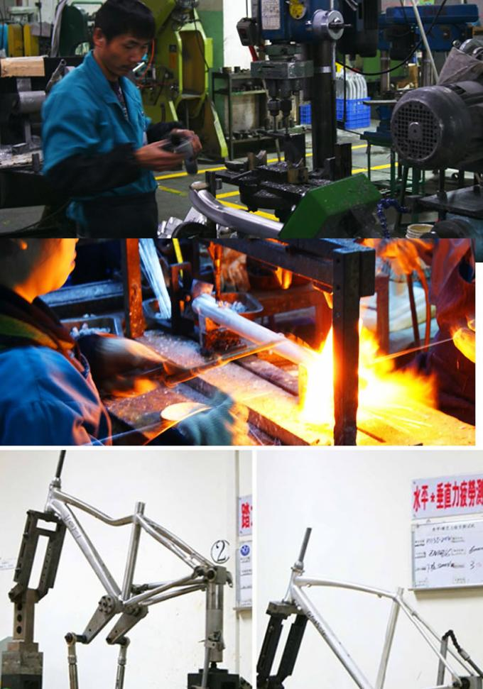 Aluminum Trail Mid Drive Electric Bike Frame Custom Painting Design