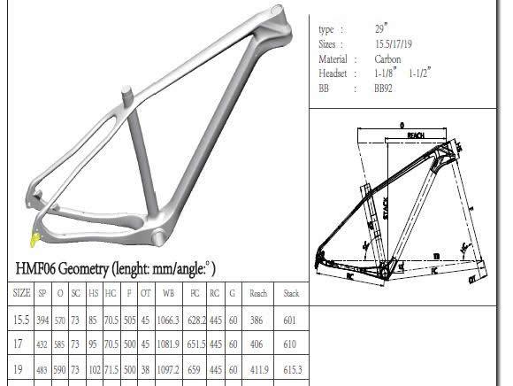 Matte Black Hardtail Carbon Bike Frame 142 X 12 Mm Thru - Axle Dropout
