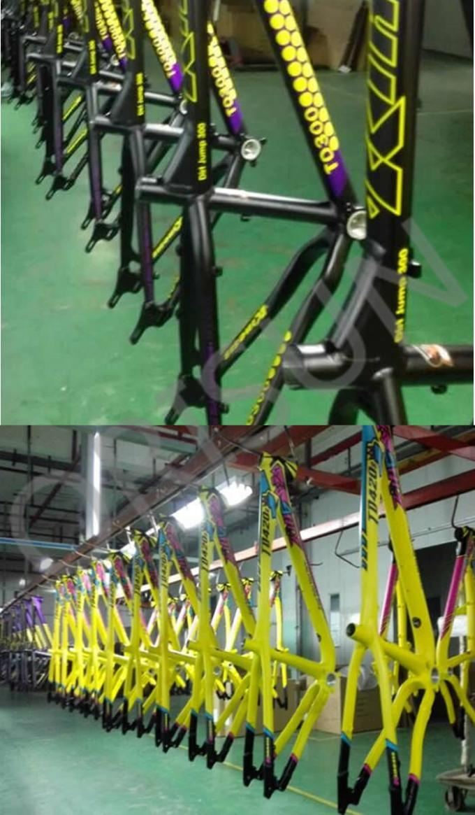 Slope Freestyle Dirt Jump Bike Frame Yellow Color Trail