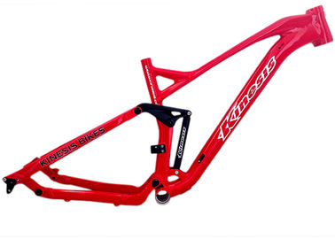 China Red Mountain Full Suspension Bike Frame Aluminum Alloy With Robot - Man Welding supplier