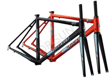 China Outer Cables Routing Scandium Bike Frame , 53cm Full Carbon Bike Frame supplier