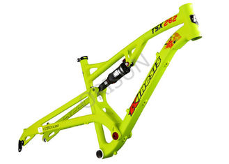 China 26er Trail Mountain Full Suspension Bike Frame Aluminum Alloy 124mm Travel supplier