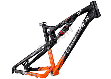 China Aluminum XC Full Suspension Bike Frame 100mm Travel 4 - Linkage Structure supplier