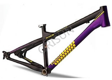 China 4X / Slopestyle Bike Frames , 26 Inch Black Bmx Frame With Rear Dropouts supplier