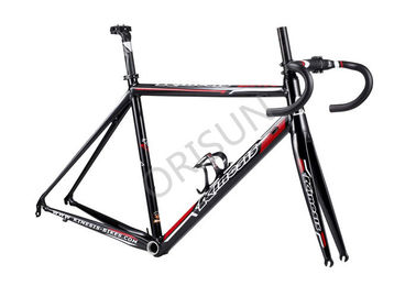 China Road Racing Aluminum Bike Frame Internal Cable Routing 27.2mm Seatpost supplier