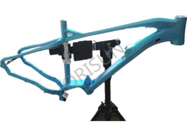 China 27.5 Inch Plus Electric Bike Frame Mid Drive Blue Color For Mtb Ebike supplier