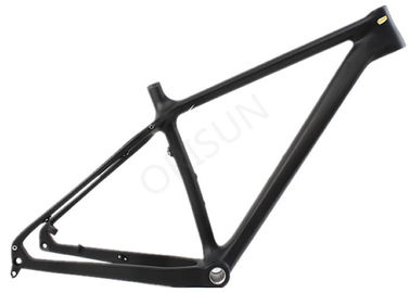 China Carbon 26er Bike Frame , Snow / Fat Bike Frame Customized Painting Designs supplier
