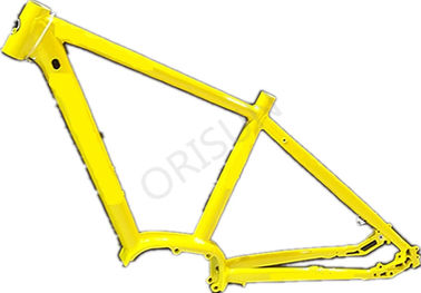 China Aluminum Yellow Bike Frame , 29 Inch Electric Mountain Bicycle Frames supplier