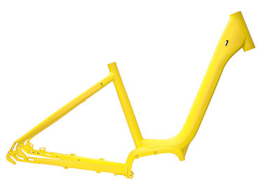 China 700c City Road Yellow Electric Bike Frame V Brake With Lithium Battery supplier