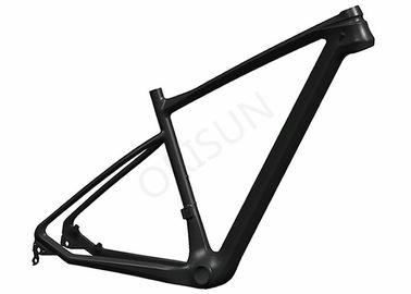 China Superlight Carbon Fiber Bike Frame , 29er Mountain Bike Frame 142 X 12 Dropout supplier