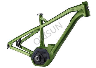 China 27.5  Inch Green Aluminum Electric Bike Frame XC Hardtail Full Suspension supplier
