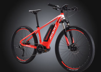 China Aluminum 27.5 Electric Mountain Bike 11.6AH Black / Red Luxury Design supplier