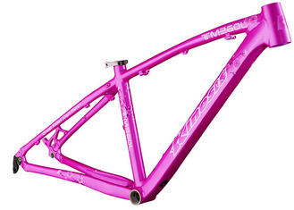 China 26er Aluminum Alloy Ladies Bike Small Frame , Pink Ladies Mtb Frame supplier