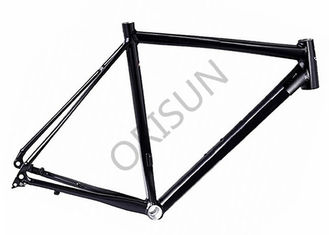 China Black Flat Mount Road Bike Frame Aluminum Material For Offroad Racing supplier