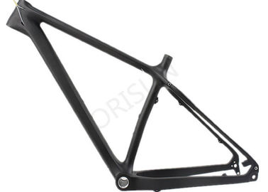 China Black Full Carbon Fiber Fat Bike Frame Customized Painting For Snow Bike supplier