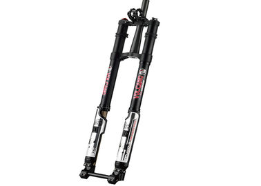 China Downhill Suspension Custom Bike Forks Black Dual - Crown Inverted 8 Inch supplier