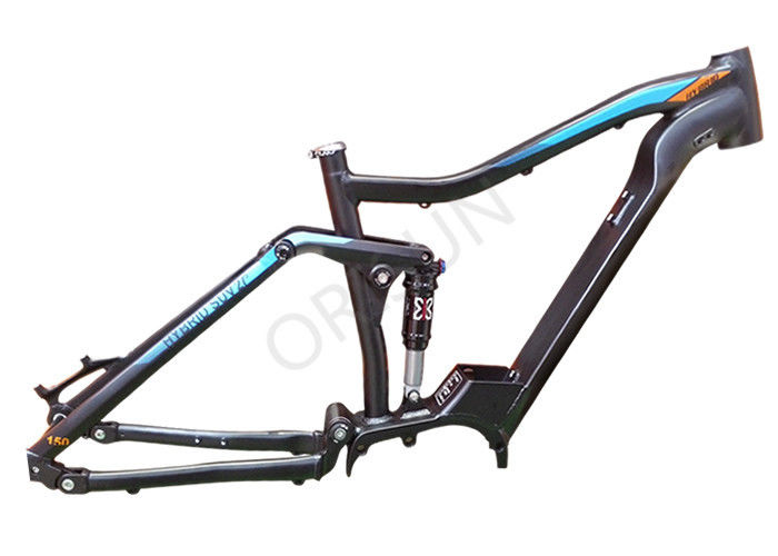 27.5 Inch Electric Bicycle Frame , Full Suspension Enduro Ebike Frame