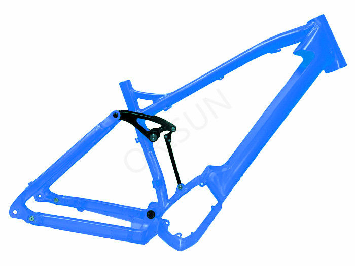 All Mountain Full Suspension Ebike Frame , Mid - Drive Electric ...