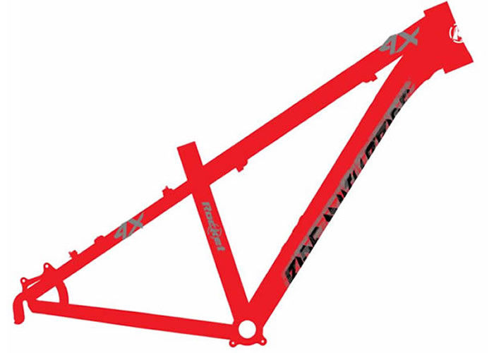 26er Dirt Jump 4x Bike Frame Red Color Aluminum Alloy 6061 Customized  Painting
