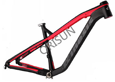 China Red / Orange Hardtail Mtb Bike Frames , 27.5 Inch Aluminum Alloy Bike Frame distributor