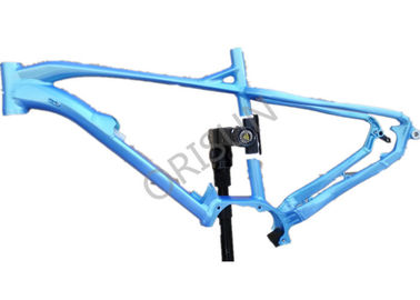 China Mid Drive Electric Aluminum Bike Frame Blue Color With Hidden Battery distributor