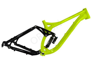 China 26 Inch Full Suspension Mountain Bike Frame 200mm Travel Downhill / Freeride distributor