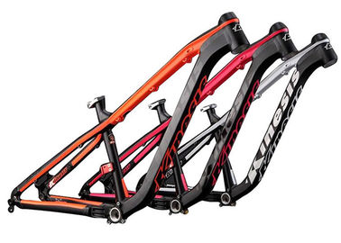 China Black / Orange Mtb Mountain Bike Frame Aluminum Alloy Hardtail AM Riding Style distributor