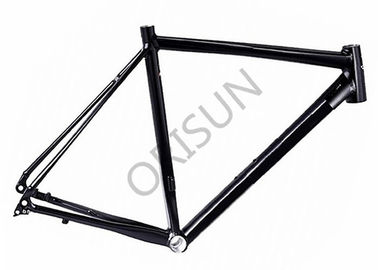 China Black Flat Mount Road Bike Frame Aluminum Material For Offroad Racing distributor